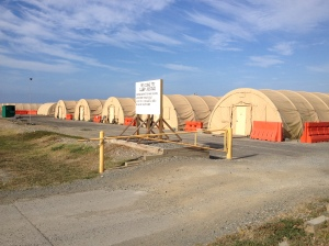 A picture of some of the tents at Camp Justice.