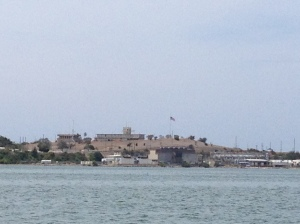 A view of GTMO from the boat.
