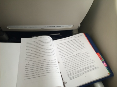 Glad to review the MCOP Briefing Book on the plane to  the East Coast -- Most Helpful! Thanks to Jeff Meding, Qifan Wang, Krisitn Brockett & Professor Edwards!