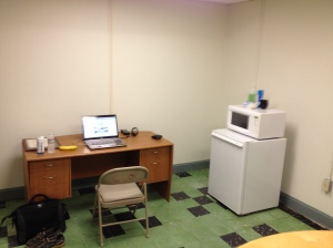 NGO office area in the Lounge. This is where I set up shop to get work done while I was at GTMO.