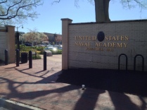 Pedestrian entrance to U.S. Naval Academy at Annapolis