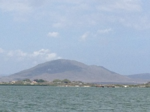 On the boat trip, we could see Cuba. Apparently, it is the mountains in the background.