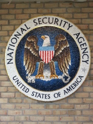 Pictured: Mosaic at the entrance to the museum. The NSA headquarters is located adjacent to the museum.