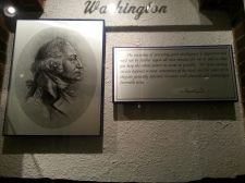 "Pictured: George Washington display at the museum. The plaque reads, "" The necessity of procuring good intelligence is apparent and need not be further urged -- all that remains for me to add is, that you keep the whole matter as secret as possible. For upon secrecy, success depends in most enterprises of the kind, and for want of it, they are generally defeated, however well planned and promising a favorable issue."""