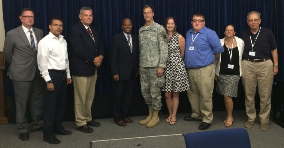 Chief Prosecutor Gerneral Mark Martins and NGO Observers - GTMO - 16 June 2014