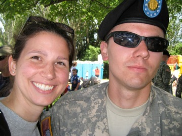 Me (Margaret Baumgartner) and one of my favorite members of our armed services.