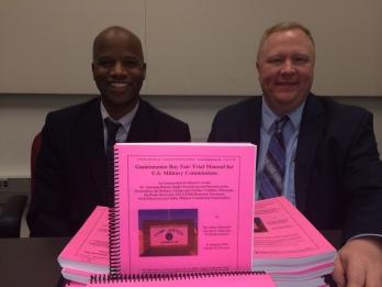 Chuck Dunnlap & George Edwards - 31 October 2014 - With Guantanamo Bay Fair Trial Manual Draft - Stacks
