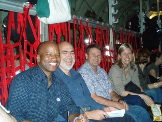 George Edwards, Tim McCormack & David McCleod on Airplane to GTMO - March 2007