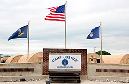 Military tribunals for some accused of terrorist attacks on the United States are held at Camp Justice at Guantanamo Bay. (Photo by Catherine Lemmer, IU McKinney School of Law)