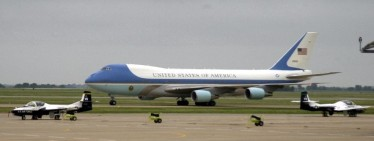 Of course, Andrews is the home of Air Force One. The plane taking us to Guantanamo Bay is a more modest than this one.