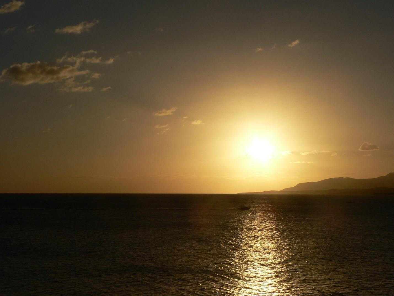Sunset At Girls Cout Beach Guantanamo Bay Cuba