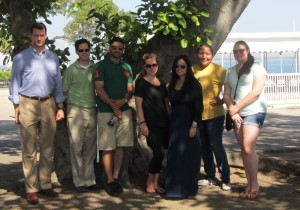 We are 6 NGO Observers on this trip to Guantanamo Bay, along with our Military Commission escort. Next time we wont stand in the shade for our photos!)