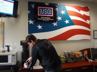 The USO in the passenger terminal provided much needed fresh coffee