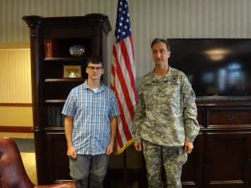 Brigadier General Mark Martins was kind enough to pose with me for a photo following his briefing with the observers