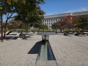 "Each ""Memorial Unit"" is a cantilevered bench with a lighted reflection pool, and is inscribed with the name of a victim. The Memorial Units are also positioned to distinguish those victims who were in the Pentagon and those who were aboard American Airlines Flight 77."