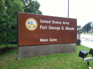 Main Gate of Ft. Meade, where I am scheduled to attend hearings this coming week.