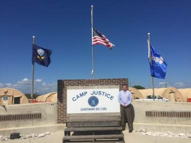 GTMO - Paul Schilling and 3 flags