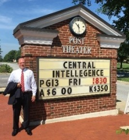 Klein at Ft. Meade - in front of Post Theater sign - 18 July 2016