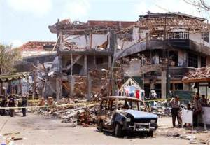Another scene from the Bali bombing.