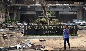 The 2003 JW Marriott Hotel bombing in Jakarta, Indonesia, also caused great destruction.