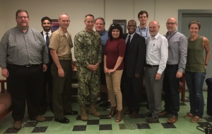 9 NGO representatives following briefing by Guantanamo Bay Chief Defense Counsel John Baker and Deputy Chief Defense Counsel Brent Filbert
