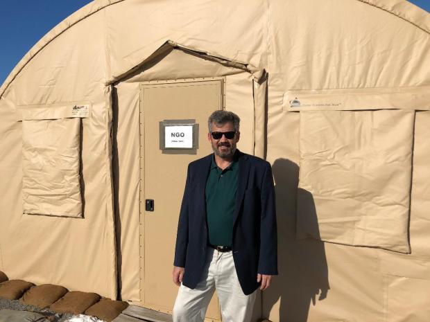 NGO tent