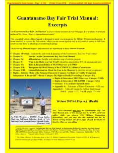 Gitmo Fair Trial Manual - Excerpts - Cover - 14 June 2019